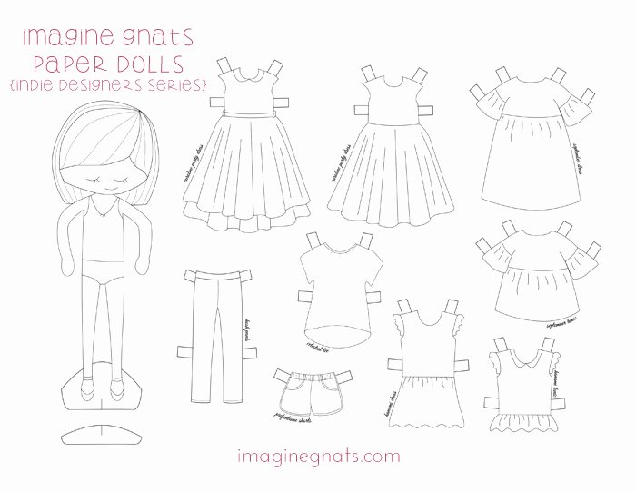 Paper Doll Clothing Template Inspirational Free Printable In Designers Paper Dolls Imagine Gnats