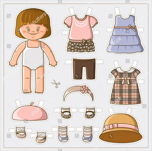Paper Doll Clothing Template Lovely 25 Printable Paper Doll Templates Free & Premium Download