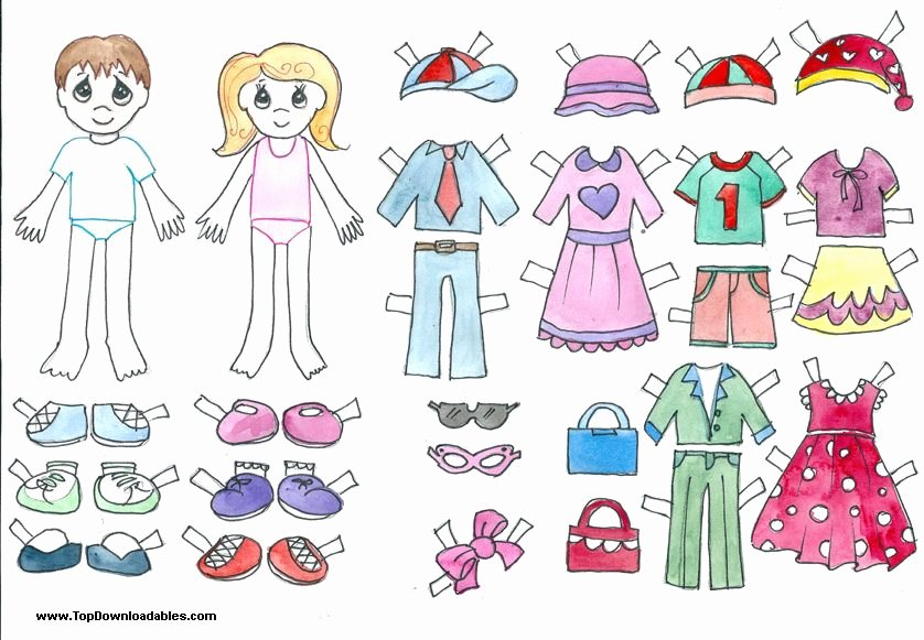 Paper Doll Clothing Template New Free Printable Paper Doll Cutout Templates for Kids and