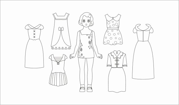 Paper Doll Clothing Template New Paper Dolls