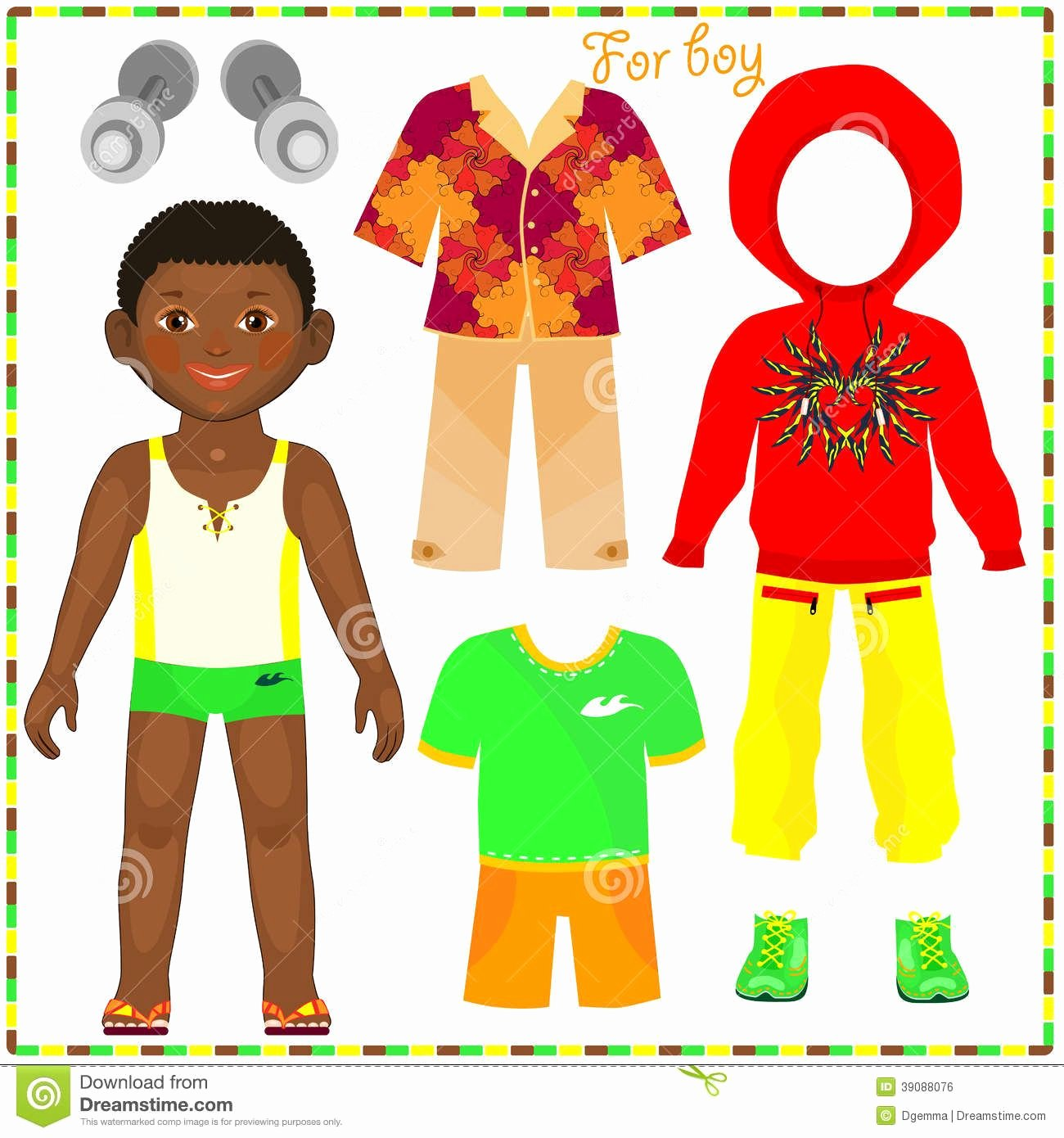 Paper Doll Clothing Template Unique Boy Paper Doll Template Black African American