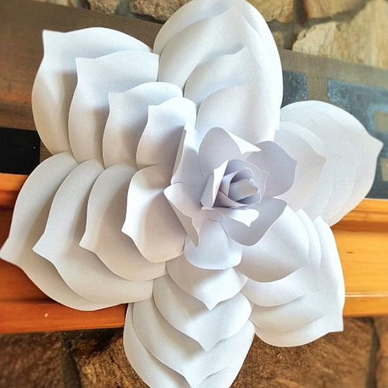 Paper Flower Backdrop Template Best Of Paper Flower Template Diy Paper Flower Paper Flower