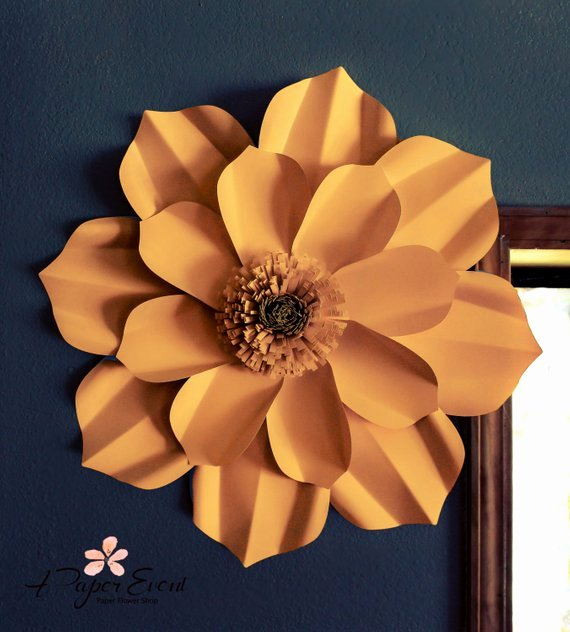 Paper Flower Backdrop Template Fresh Paper Flower Template Diy Paper Flower Diy Backdrop