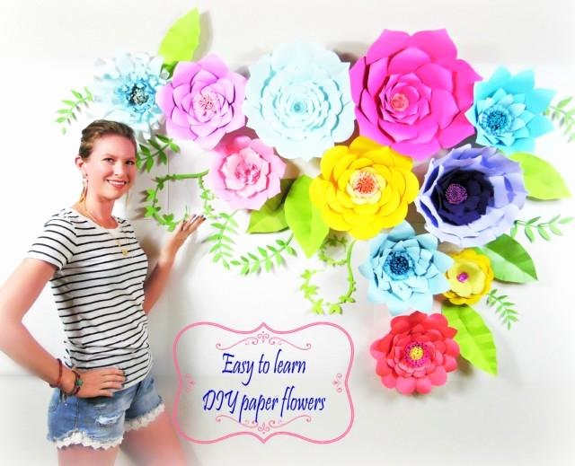 Paper Flower Backdrop Template Inspirational Diy Wedding Decor Diy Giant Paper Flower Backdrop Diy