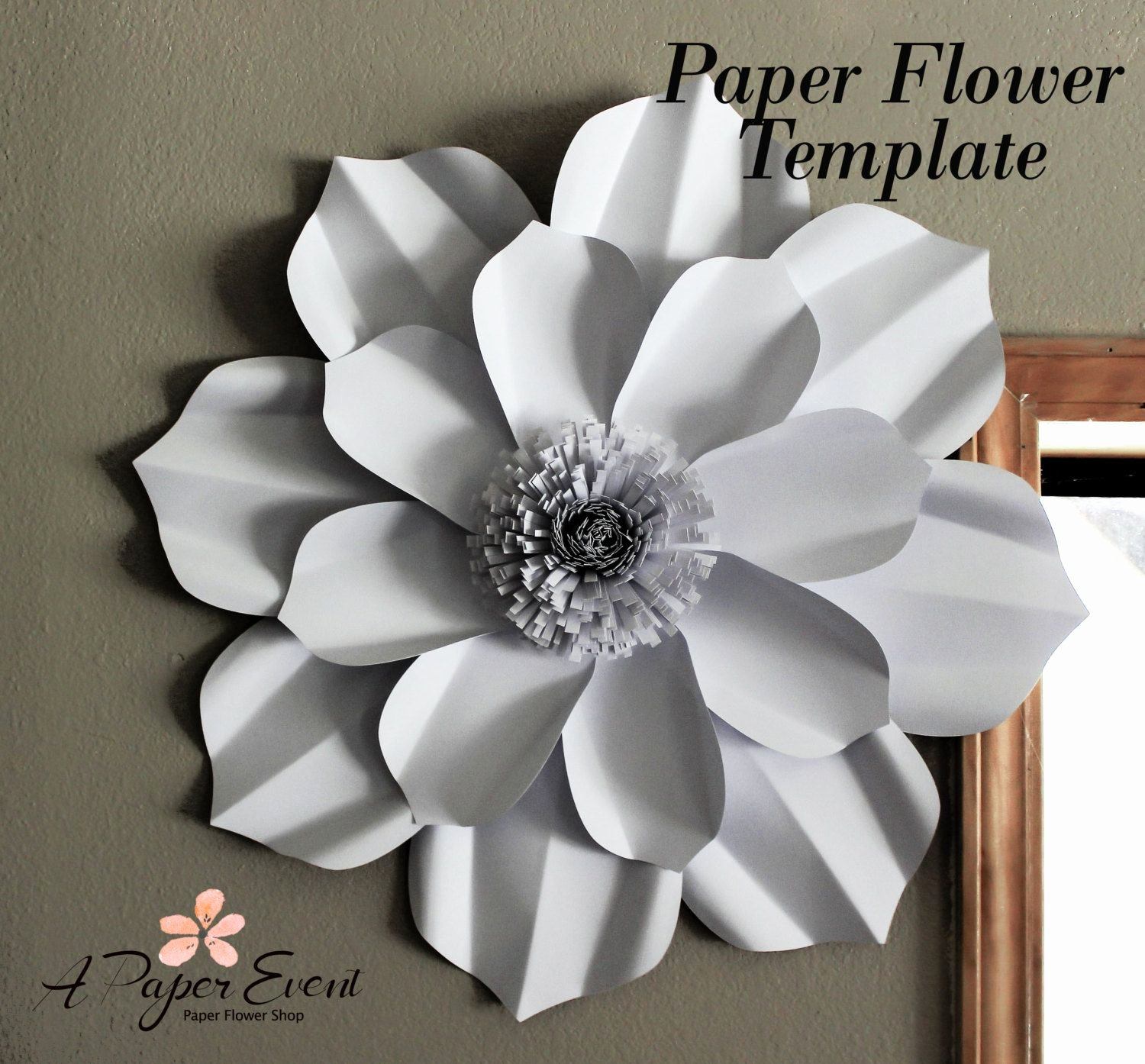 Paper Flower Backdrop Template Lovely Paper Flower Template Diy Paper Flower Diy Backdrop