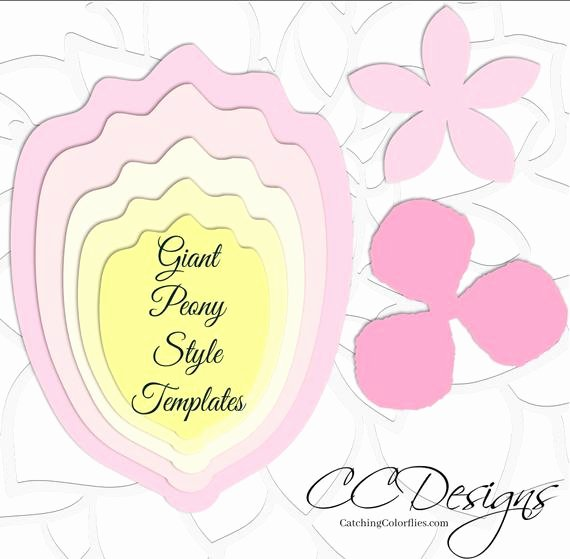 Paper Flower Backdrop Template New Giant Flower Templates Paper Flower Templates & Tutorials