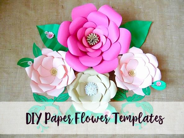 Paper Flower Backdrop Template New Wedding Giant Paper Flower Backdrop Flower Templates and