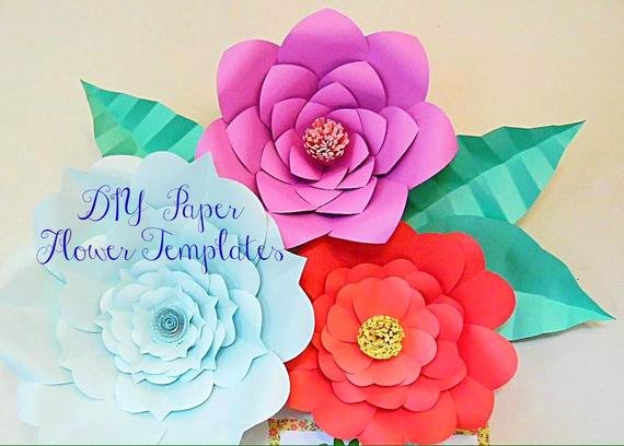 Paper Flower Backdrop Template Unique Giant Paper Flower Templates Diy Backdrop Flowers