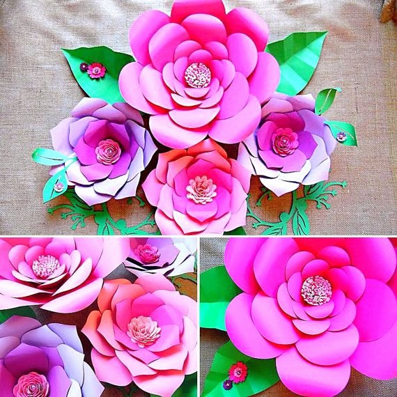 Paper Flower Backdrop Template Unique Paper Flower Templates Diy Paper Flower Wall Paper