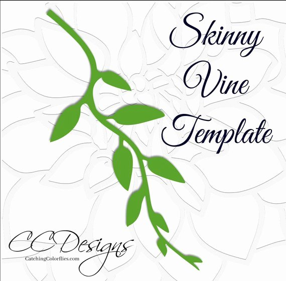 Paper Flower Leaf Template Elegant Leaf and Vine Templates Printable Pdf Leaf Template