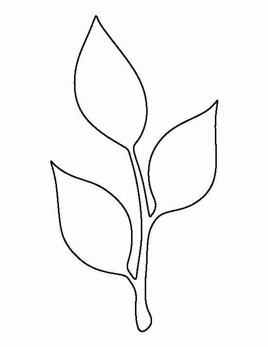 Paper Flower Leaf Template Elegant Stem and Leaf Pattern Use the Printable Outline for