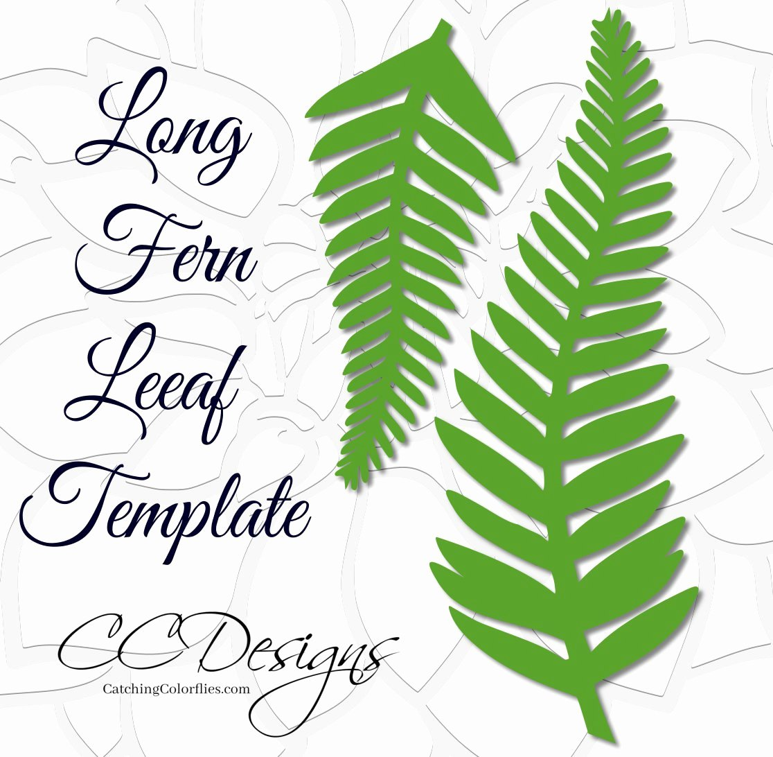 Paper Flower Leaf Template Fresh Long Fern Vine Svg Cutting Files Giant Paper Flowers Leaf