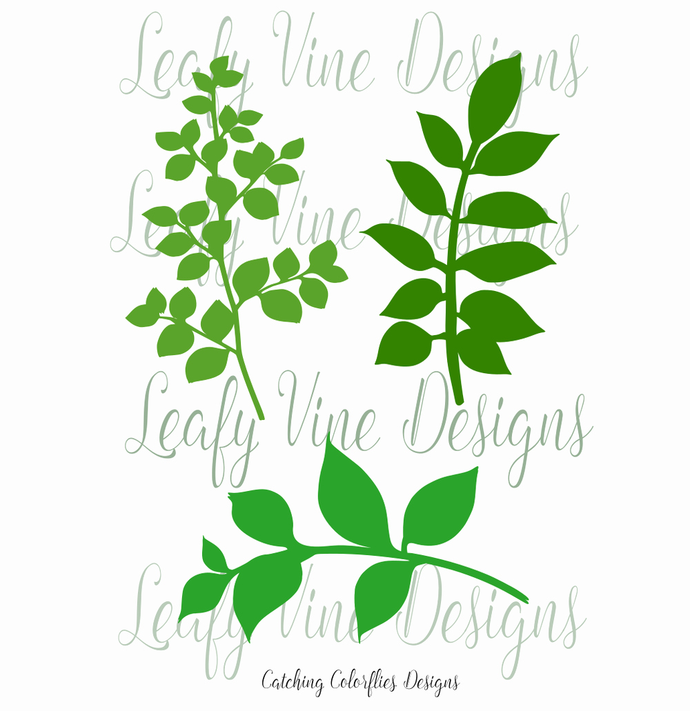 Paper Flower Leaf Template Lovely Leafy Vine Set Leaf Svg Template Cricut
