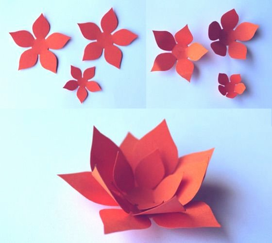 Paper Flower Leaf Template New Beautiful Decorations for Celebrations and Fiestas