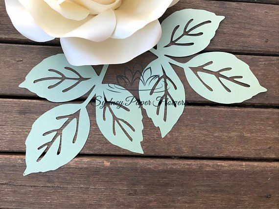 Paper Flower Leaf Template Unique Rose Paper Flower Leaf Template Pdf Svg Pattern Paper Flower
