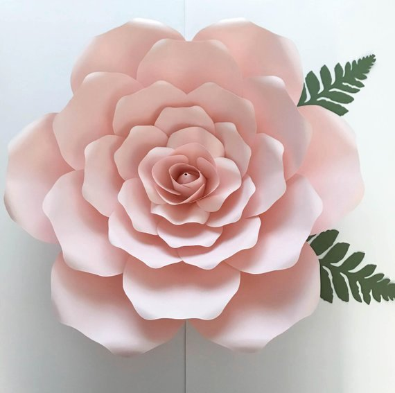 Paper Flower Template 3d Awesome Pdf Petal 19 Paper Flower Template W Rose Bub Center