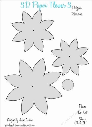 Paper Flower Template 3d Best Of 3d Paper Flower Templates 3 Cu4cu Cup 2049