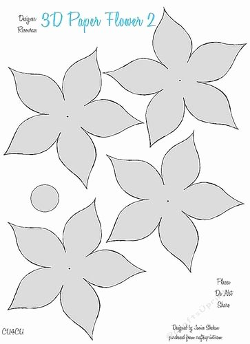 Paper Flower Template 3d Elegant Magiccoloring orchid Flower Template Felt Ampfeltampcloth