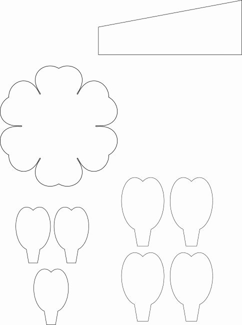 Paper Flower Template 3d Fresh 970 Best Images About Flowers Paper On Pinterest