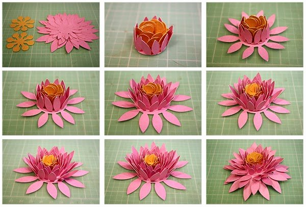 Paper Flower Template 3d Fresh Bits Of Paper 3d Paper Flowers Day Three