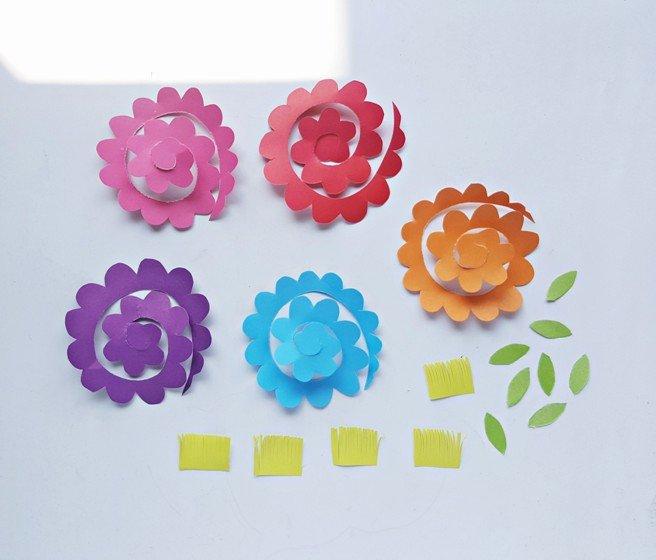 Paper Flower Template 3d Inspirational Diy Flower Basket Card Design Dazzle