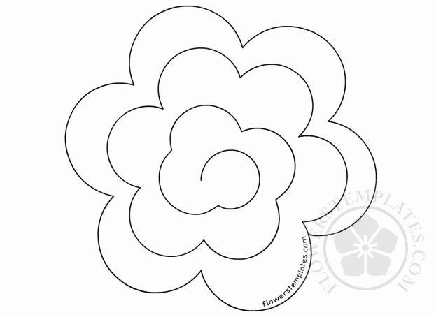 3d paper rose rolled paper flower template