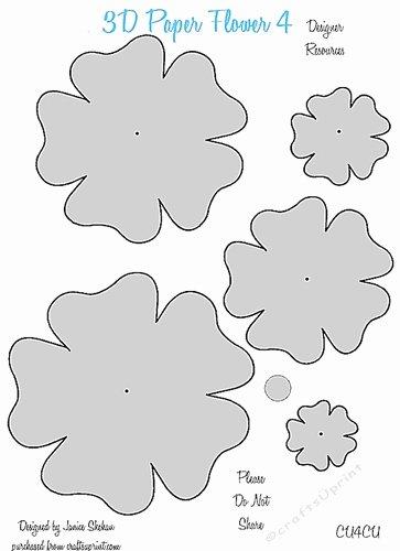 Paper Flower Template 3d Unique 3d Paper Flower Templates 4 Cu4cu Cup 2049