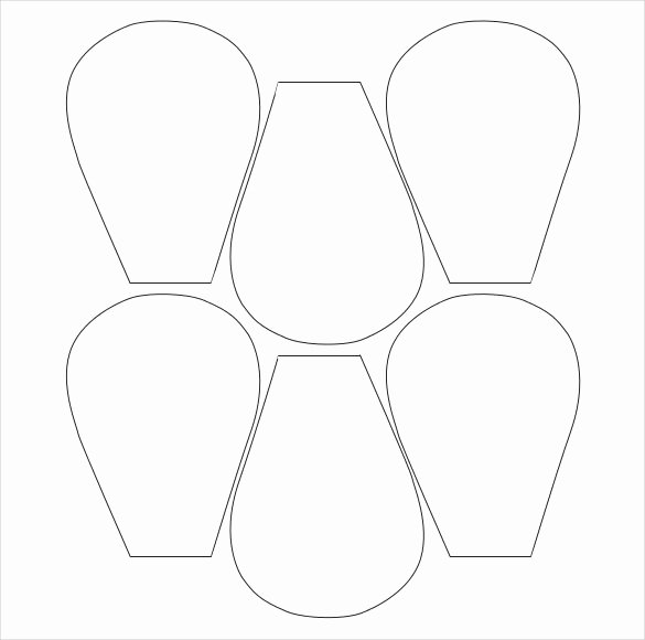 Paper Flower Template Pdf Best Of Flower Petal Template 27 Free Word Pdf Documents