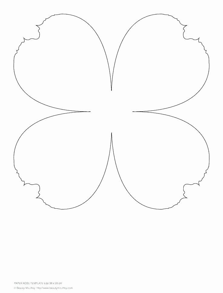 Paper Flower Template Pdf Inspirational Rose Template Printable Paper Flower Petals Flowers