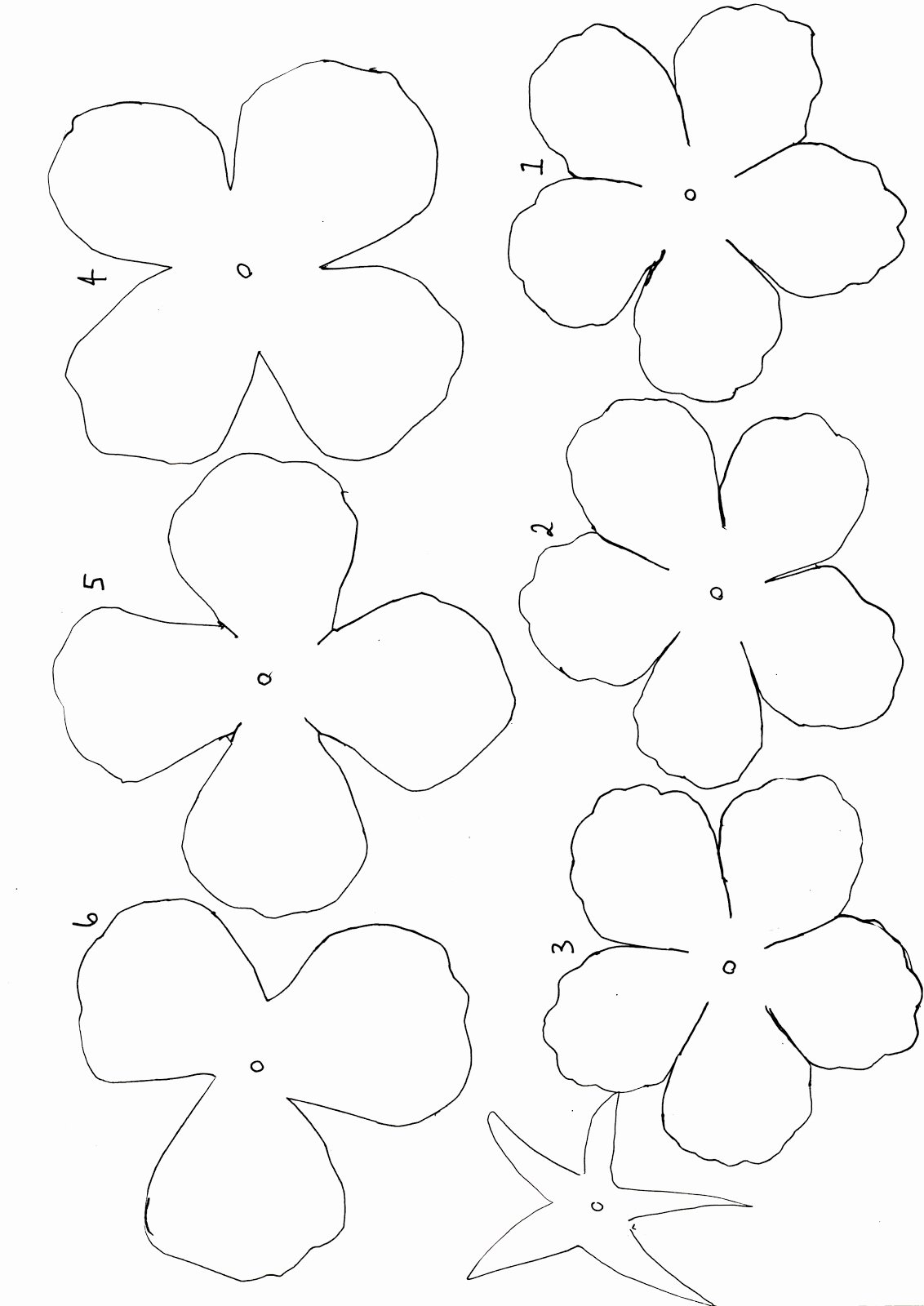 Paper Flower Template Pdf Lovely 6 Best Of Paper Flower Template Printable
