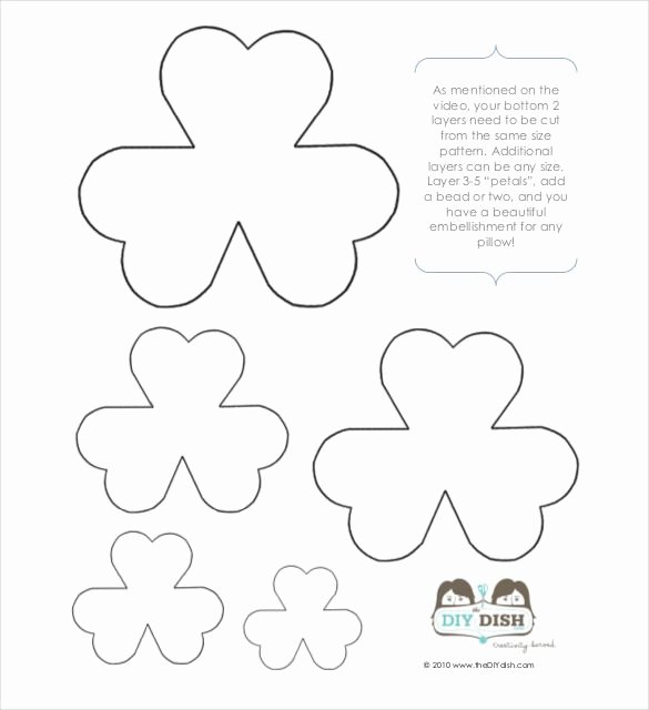 Paper Flower Template Pdf Luxury Flower Petal Template – 27 Free Word Pdf Documents