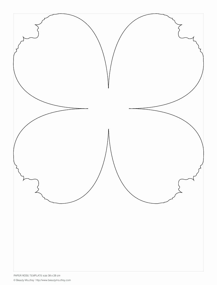 Paper Flower Template Pdf New Paper Flower Template Pdf Flowers Healthy