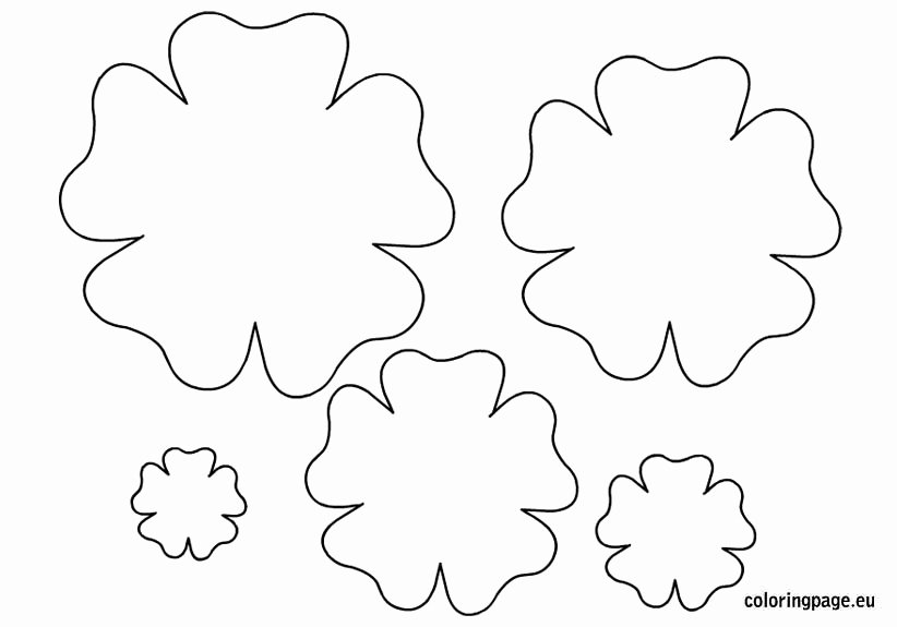 Paper Flower Template Printable Fresh 7 Best Of Printable Templates Paper Flower Paper