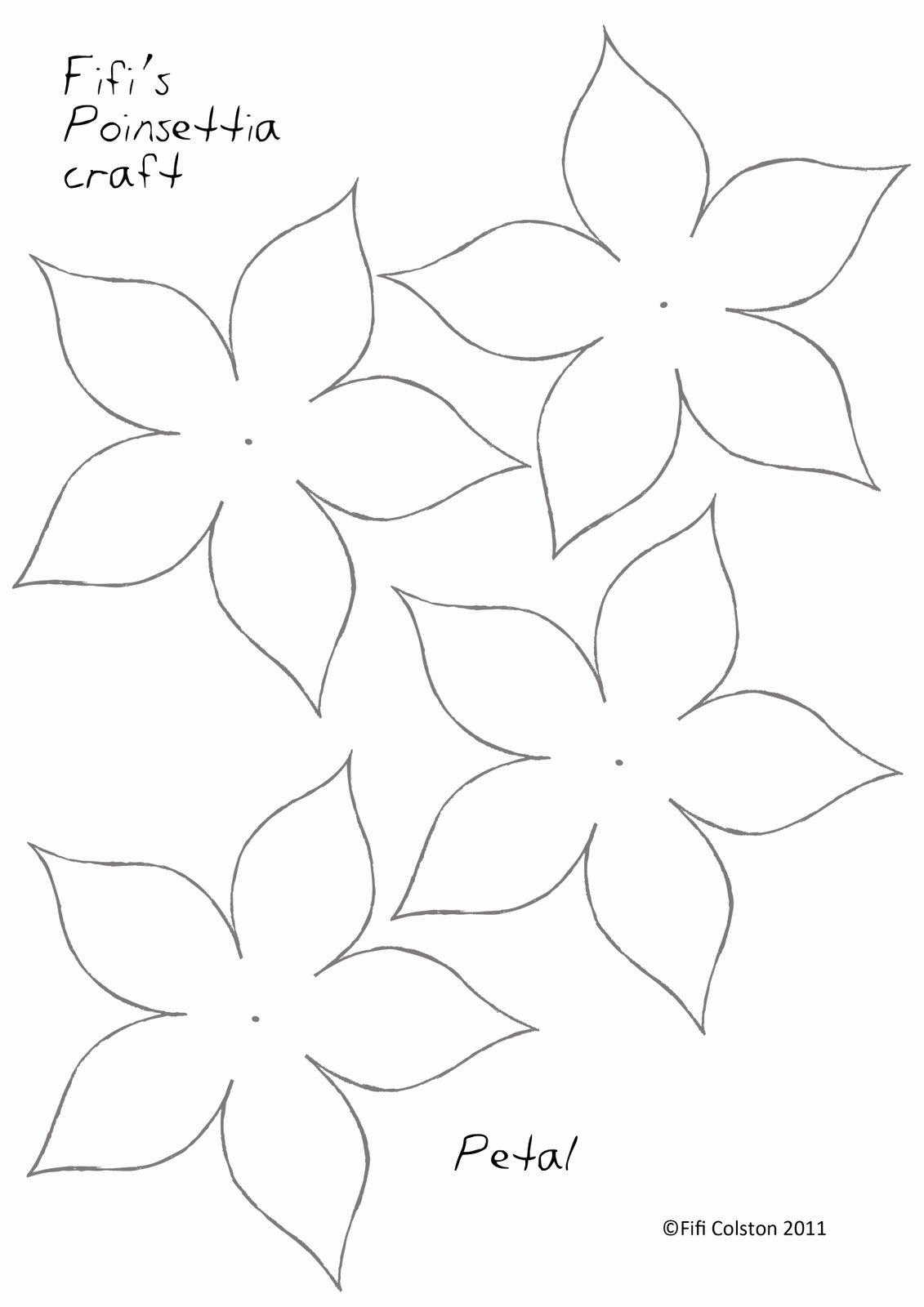 Paper Flower Template Printable Lovely Fifi Colston Creative Pretty Paper Poinsettias