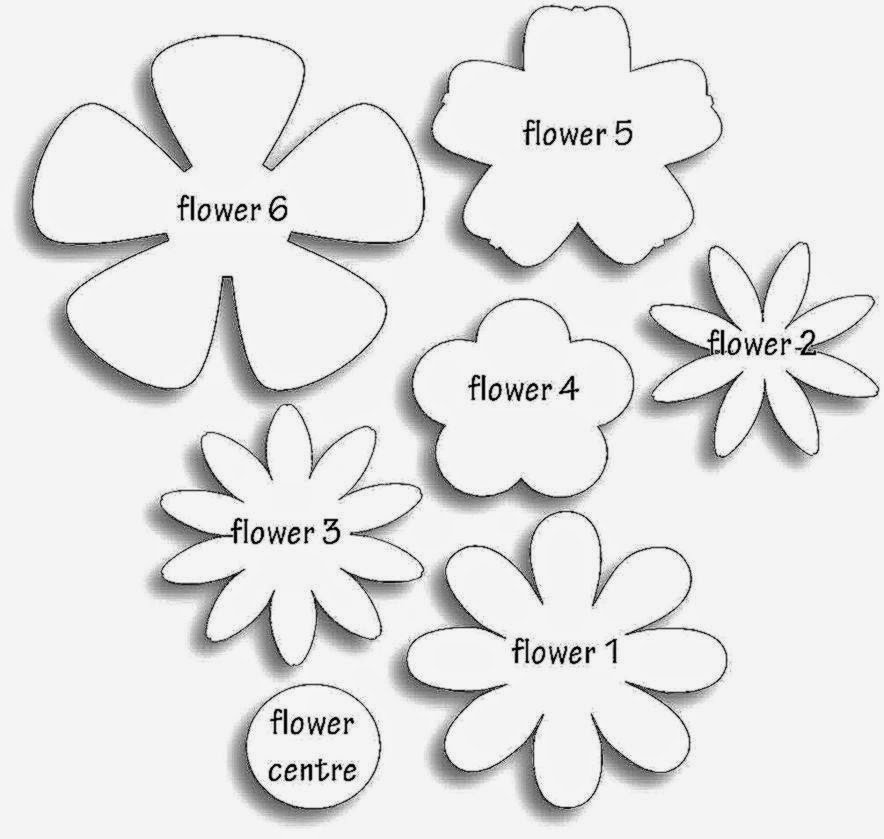 Paper Flower Template Printable Lovely Paper Flower Templates