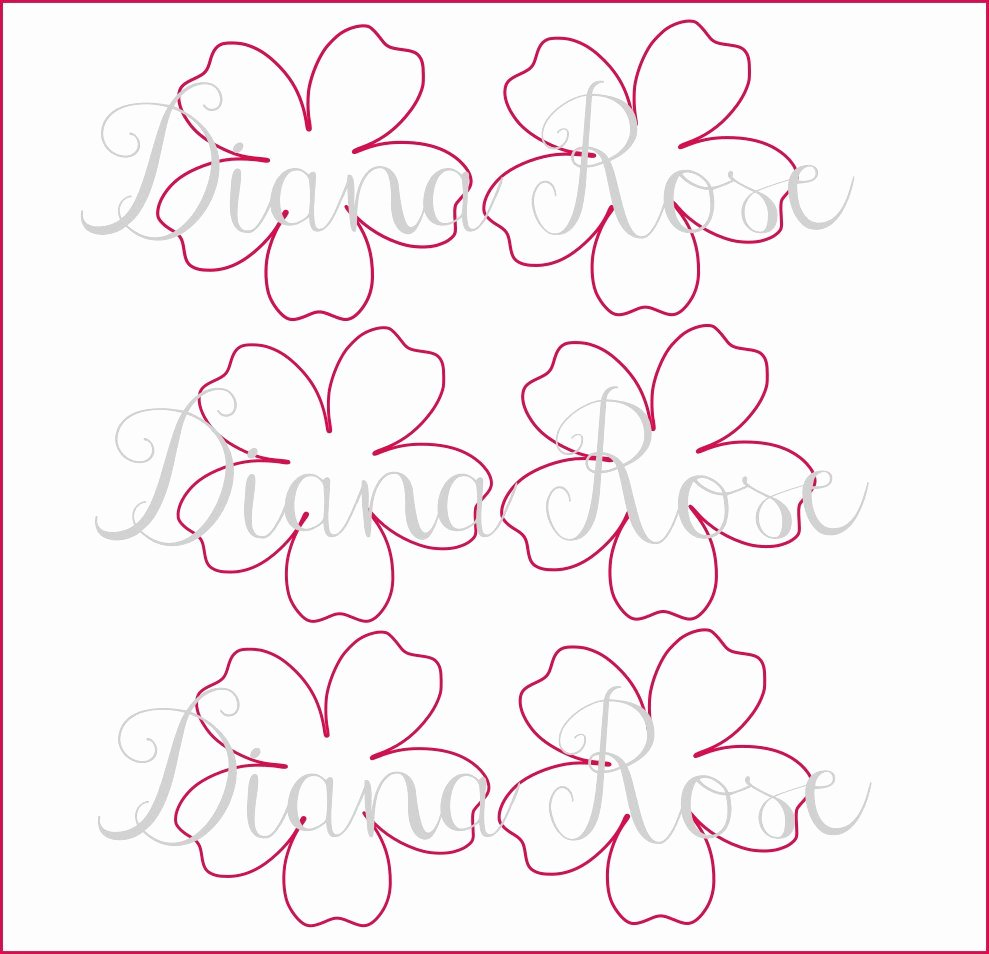 Paper Flower Template Printable Lovely Printable Paper Rose Templates Diy Paper Flowers Printable