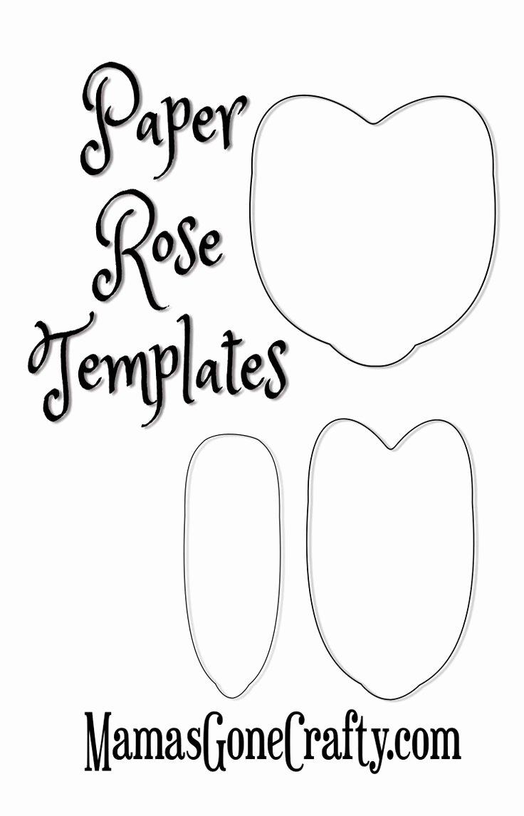Paper Flower Template Printable Unique 25 Unique Paper Roses Tutorial Ideas On Pinterest