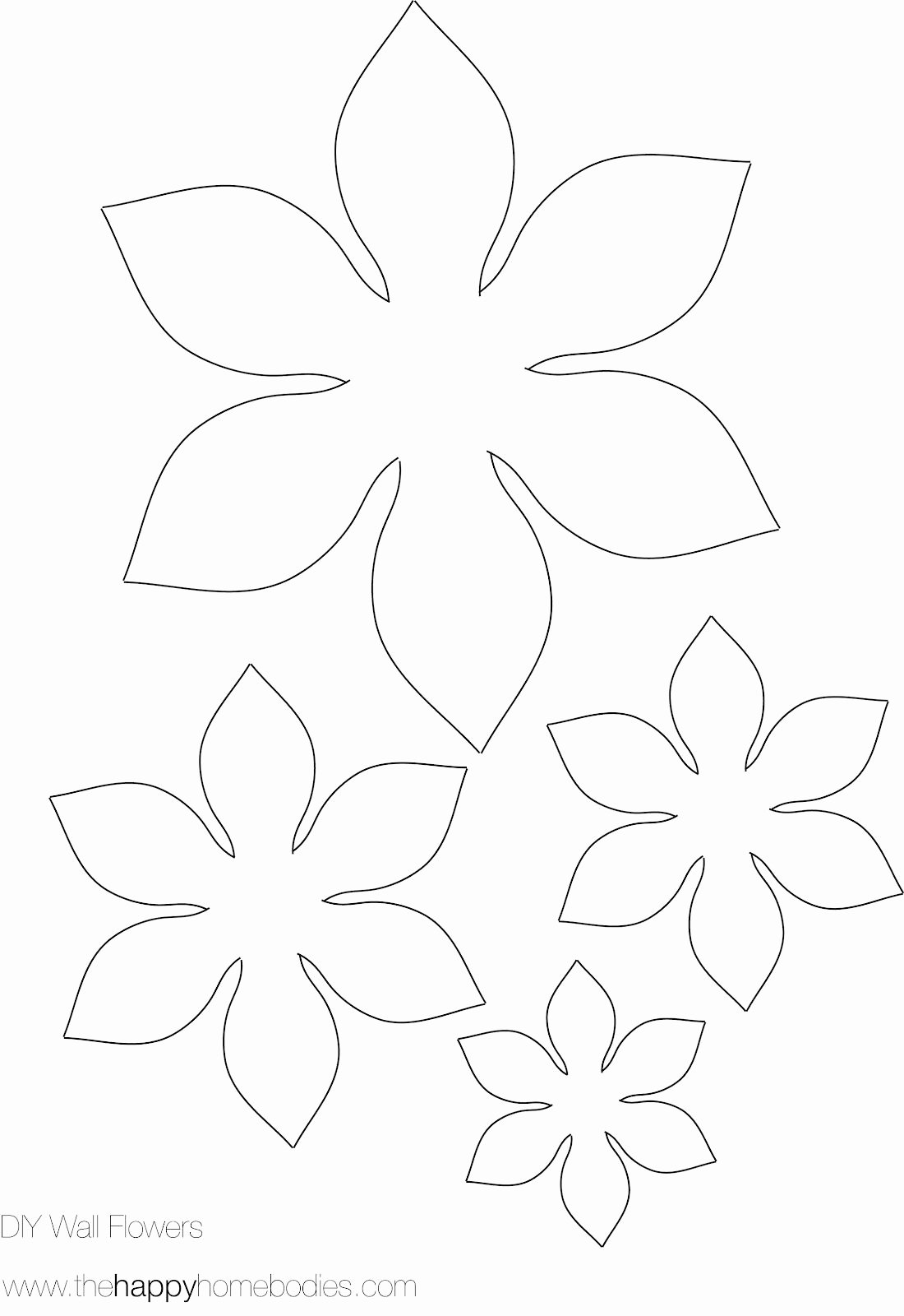 Paper Flower Template Printable Unique Flower Template On Pinterest