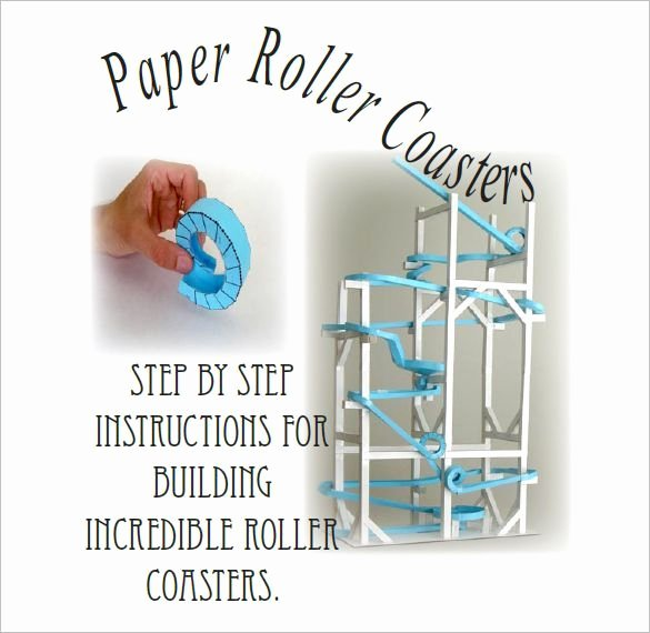 Paper Roller Coaster Template Luxury 7 Paper Roller Coaster Templates Free Word Pdf