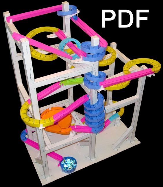 Paper Roller Coaster Template New Paper Roller Coaster these are so Cool