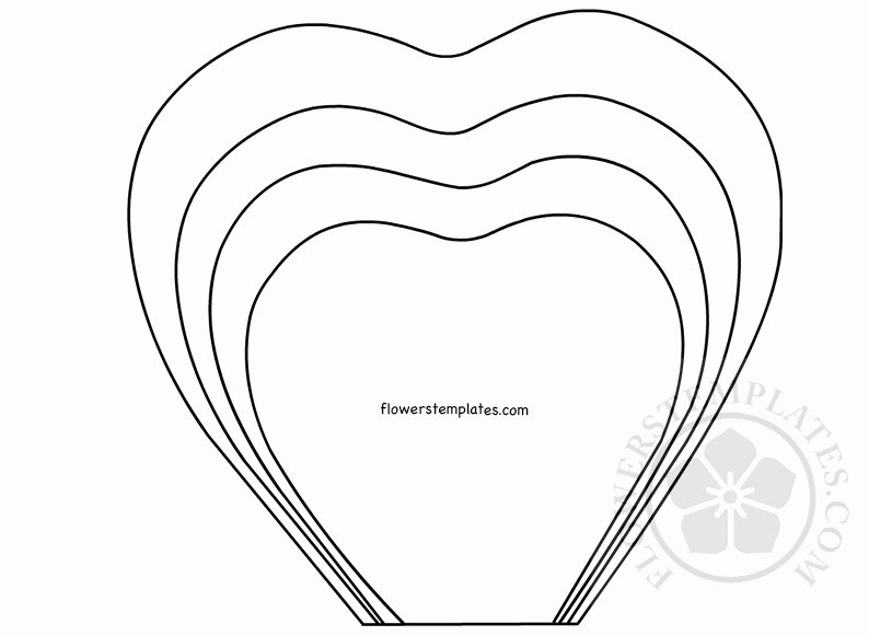 Paper Rose Template Pdf Awesome Paper Rose Printable Template