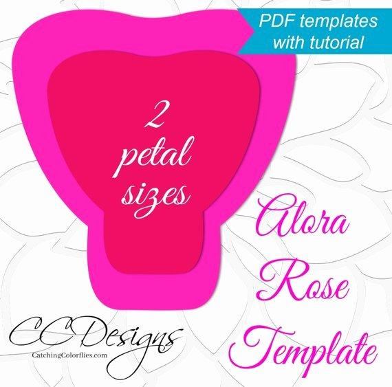 Paper Rose Template Pdf Awesome Printable Pdf Paper Rose Templates Giant Paper Rose Flower