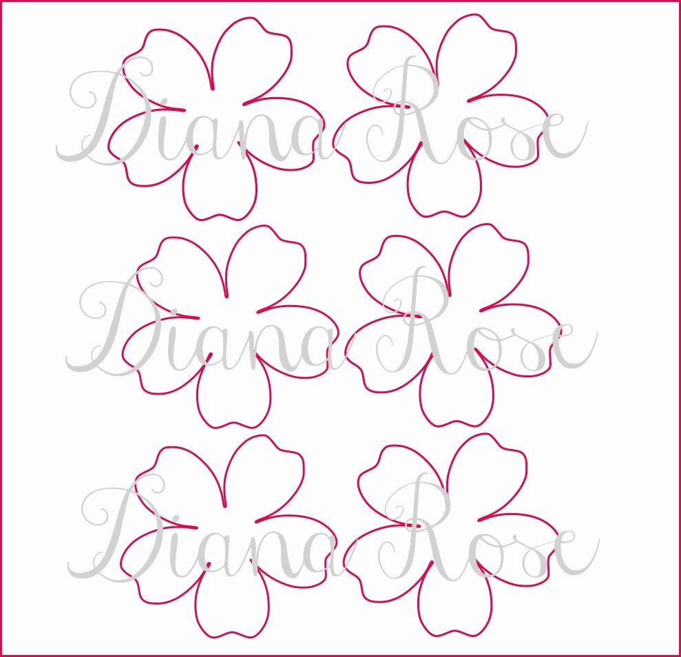 Paper Rose Template Pdf Beautiful Printable Paper Rose Templates Diy Paper Flowers Printable
