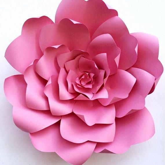Paper Rose Template Pdf Elegant Paper Flower Tutorial Paper Flower Backdrop Paper Flower