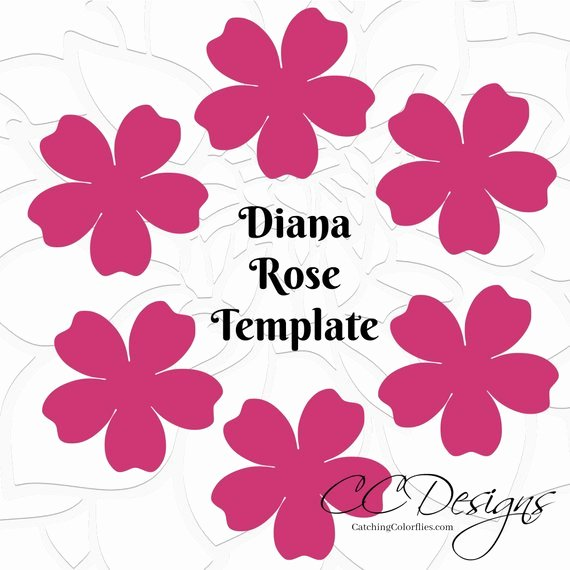 Paper Rose Template Pdf Lovely Printable Paper Rose Templates Diy Paper Flowers Printable