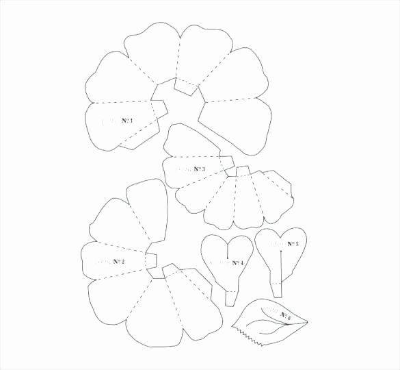 Paper Rose Template Pdf Luxury Free Paper Rose Template Mini Paper Flower Template Free