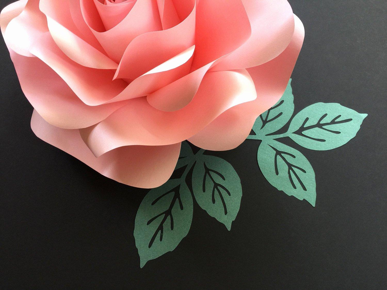 Paper Rose Template Pdf Luxury Rose Leaf Template Pdf Svg Pattern Paper Leaf Template Paper