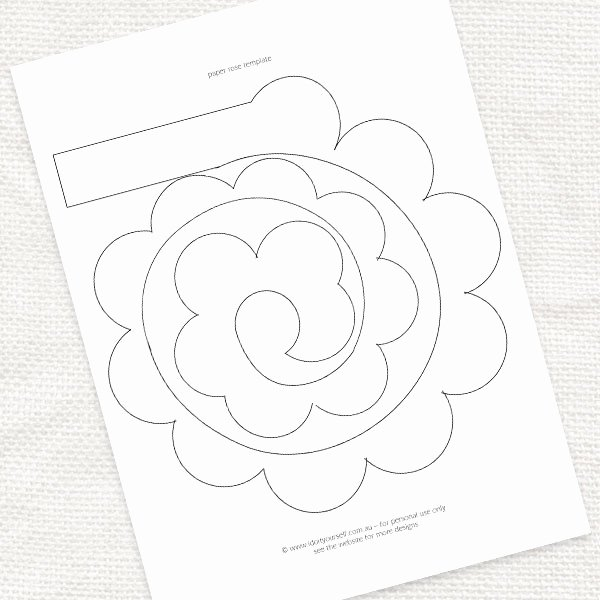 Paper Rose Template Printable Awesome 7 Best Of Printable Templates Paper Flower Paper