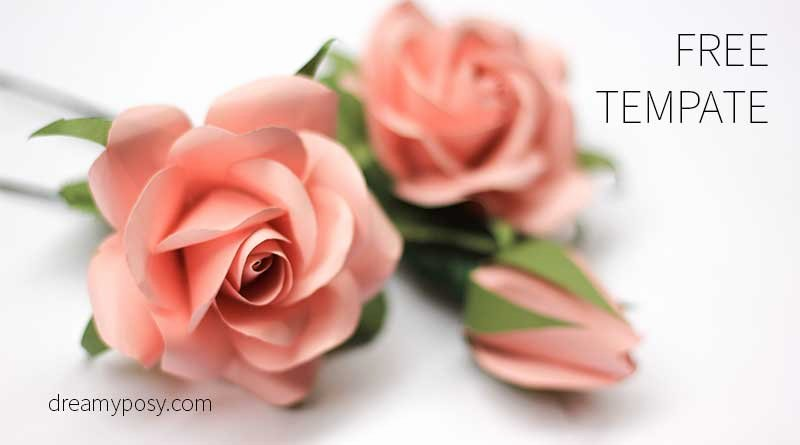 Paper Rose Template Printable Beautiful 40 Paper Flowers Free Templates and Tutorials How to