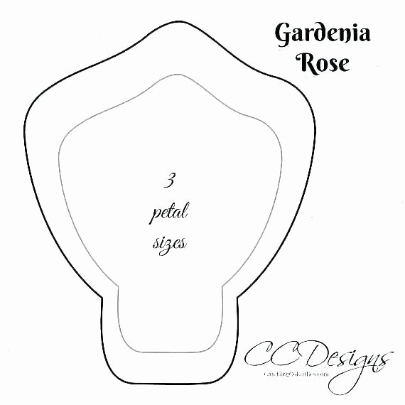 Paper Rose Template Printable Beautiful Free Paper Rose Template